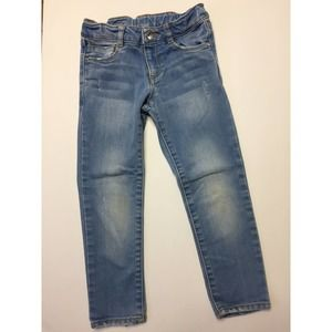Zara Girls Light Wash Blue Denim Jeans 4/5